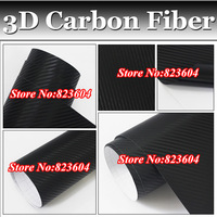 3d 0.18mm Black Carbon Fiber Vinyl Car Body Protection Film With Air Free Bubble Free SHipping