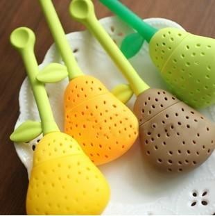 Hot sale ! Pear silica gel tea bag tea device tea filters derlook cup