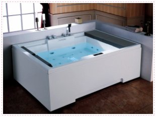 Luxury double g-81101a attached the skates surfing massage bathtub bubble bath acrylic 1.9 meters bathtub
