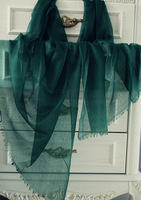 Ultralarge 2013 cashmere 200 ultra-thin ring velvet scarf sun air conditioner cape blackish green