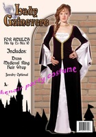 Free shipping 2014 HOT SALE & Fashion COSPLAY lady guinevere party halloween christmas costume woman dress + fast deliver
