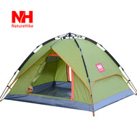 Naturehike-nh outdoor camping tent 3 - 4 double layer automatic tent