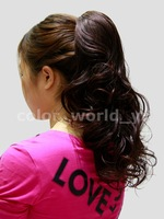 Wholesale Imitation human made Clip horseshoers jiafa wig paw tail hair accessory wig accessories