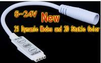 12V 6A Mini RGB Controller Dimmer 3 Keys(21 Dynamic Modes and 20 Static Color) +DC plug for 5050 3528 RGB LED Strip Light