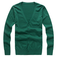 Spring and autumn male V-neck all-match sweater male 100% cotton sweater cardigan male 8042 p55