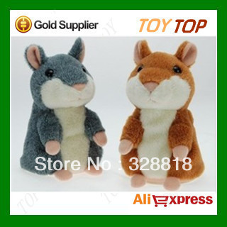 Free shipping 5.5'' Russian Talking hamster wooddy time stuffed animal toys speaking kid Toy repeat what u said in any language