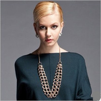 Min.order is $15 (mix order)2013 Fashion costume jewelry,Long sweater necklace chain,Gold plated chain necklaces for women,N134