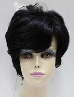 Wholesale Imitation human made Cosplay wig black wig hair curly hair real hair 41281b