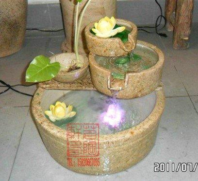 Nova chegada Shiwan cerâmica fonte de água artesanato bacia moda breve atacadista(China (Mainland))