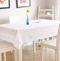8401 white rose pvc table cloth waterproof disposable tablecloth dining table cloth product