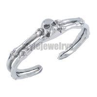 Free shipping! Motorcycles Biker Skull Bone Cuff Bangle Stainless Steel Jewelry Gothic Motor Biker Bracelet  SJB380003