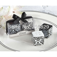 China post air mail free shipping Damask Ceramic Salt & Pepper Shakers wedding gift