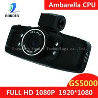 Free shipping Full HD 1080P Car DVR Cam Recorder Camcorder Vehicle Dashboard Camera /G-Sensor+1.5inch+H.264 Video Codecr GS5000