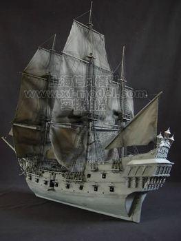 Classical wool sailboat model sets - - black pearl 2010