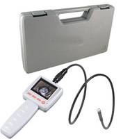 "2.4"" Video Inspection Borescope Endoscope Pipe 10mm Camera Snake Scope +Tool Box"