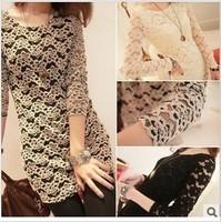 Spring beautiful stereo net luxury full lace dress shirt 3 8008