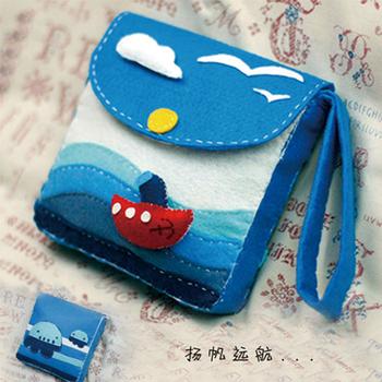 Material kit - multi-purpose mobile phone bag handmade diy mobile phone case