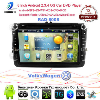 New Volkswagen Polo TFT LCD 2 DIN car dvd player with bluetooth and wierless game function
