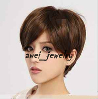 Charming New Vogue Short light brown Lady's women's Wig/wigs + free gift F#13