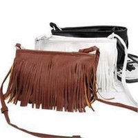2013 explosion models fashion small fringed shoulder bag diagonal package bag PU leather casual women handbag Drop shipping
