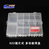 14 Compartments Transparent Fishing Lure Box 18*13*3.5cm