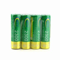 4 x New 2300mAh 1.2V AA Ni-MH Rechargeable Battery