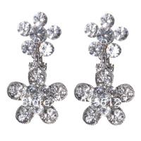 Hot Sale Bling Bling Simulated Diamond Flower Drop Earring 2013