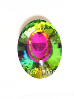 100pcs 50MM MULTICOLOURED  CRYSTAL CHANDELIER PENDANT DROP