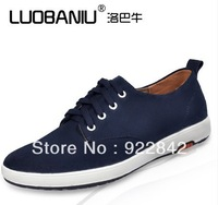 Cattle summer skateboarding shoes trend breathable shoes fashion male casual shoes scrub suede leather shoes