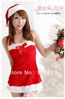 2013 cute Christmas suit costumes party dress sexy shorts dress