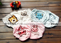 Free shipping Nishimatsuya 3 small animal child 100% cotton panties baby small nene bread pants