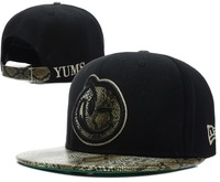FREESHIPPING YUMS Snapback hats SNAKESKIN YUMS SNAPBACK caps 9 styles sun-shading hat 2013 new arrive fashion for men and weomen
