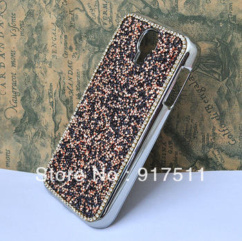 silver edge blink Cell Phone cases rhinestone Cover for iphone 4s 5 back housing for samsung I9500 I9300 galaxy s3 s4