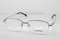 Classic half rim good Quality memory titanium metal alloy brand prescription spectacles eyewear optical eyeglasses frame glasses