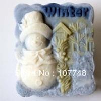 Snowman Winter mould soap salt sculpture soap crafts 50463