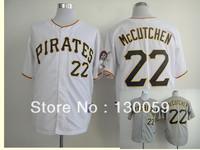 Free Shipping Wholesale 2013 Cheap Men's Baseball Jerseys Pittsburgh Pirates#22 Andrew McCutchen White Jersey,Embroidery Logos
