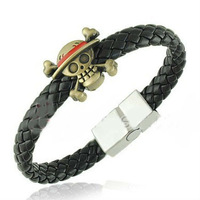 Free Shipping! 2013 Lasted Fashion One Piece Titanium Steel Men Bracelet Charm Jewelry Braided Leather Bracelet Men BL0171