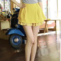 2013 plus size chiffon patchwork sweep culottes chiffon pants shorts casual dress pants 198
