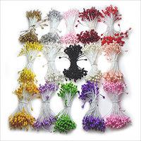 500 pcs Paper diy paper Ribbon flowers Butterfly materials small glass beads manjaris flower pin