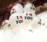 2014 Free shipping 100pcs/lots wholesales 12 inch latex balloons ,I LOVE YOU balloon ,Party decoration ,Pearl balloon
