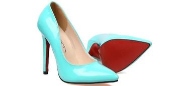 women pumps 2014 new famous brand red bottom aqua green high heel pumps designer pointed high heel pumps pump
