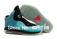 Free Shipping Air Lebron VIII 8 South Beach Men's Basketball Sport Footwear Sneaker Trainers Shoes - Teal Blue / Black / Pink