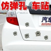 5 PCS 3M reflective car stickers car stickers car scratch posts bullet hole stickers defense really creative personality