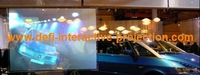 HOT!!  white  Rear Projection  film/foil display (1.524m*3m ) add one different color of  A4 size sample