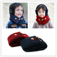 2013 Children Clothings Accessories Cotton Warm Ring Scarf For Children 60-80CM Winter Unisex  Free Shipping 1639#