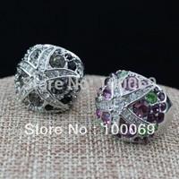 Wholesale Hot Sale Unique Fashion Jewelry Imitation Rhodium Plated Use Swa Crystal Starfish Finger Ring R1307