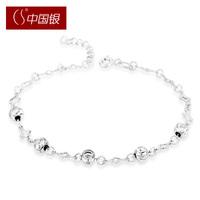 Cs silver flower 925 pure silver fashion women's bead bracelet gift accessories jewelry