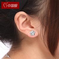 Cs silver 925 pure silver women's stud earring earrings gift accessories jewelry