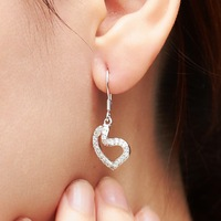 Cs silver 925 pure silver women's crystal earrings stud earring accessories jewelry