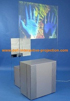 lowest price transparent color rear projection film 1.524MX5M